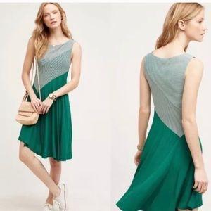NWT Maeve green and white Cameron dress
